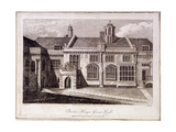 The Great Hall in Charterhouse, Finsbury, London, 1805 Giclee Print by Samuel Owen