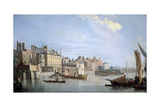 The Thames with Montagu House, from Near Westminster Bridge, London, 1749 Giclee Print by Samuel Scott