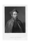 Ignatius of Loyola, Superior General of the Society of Jesus Giclée-tryk af W Holl