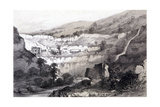 View of Caves, Ajunta, India, 1844 Giclee Print by Thomas Colman Dibdin