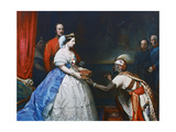 Queen Victoria Presenting a Bible in the Audience Chamber at Windsor, C1861 Impression giclée par Thomas Jones Barker