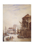 Billingsgate Wharf, London, 1820 Giclee Print by Samuel Owen
