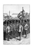 Trooping the Colour on the Queen's Birthday, St James's Park, London, 1900 Giclee Print by Sydney Prior Hall