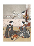 Girls Playing the Game of Ken, C1745-1770 Giclee Print by Suzuki Harunobu