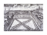Bird's-Eye View of Charterhouse Square, Finsbury, London, C1750 Giclee Print by Sutton Nicholls