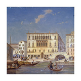 Palazzo Bernardo, 19th Century Giclee Print by Victor Adam