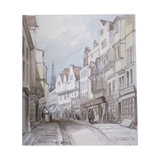 View of Holywell Street, Westminster, London, 1851 Giclee Print by Thomas Colman Dibdin