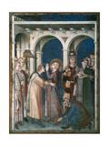 St Martin Is Knighted, 1312-1317 Giclée-Druck von Simone Martini