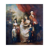 The Baillie Family, C1784 Giclee Print by Thomas Gainsborough