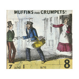 Muffins and Crumpets!, Cries of London, C1840 Giclee Print by TH Jones