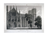 Westminster Abbey, London, 1804 Giclee Print by Samuel Rawle
