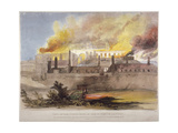 Fire at the Armoury in the Tower of London, October 1841 Giclee Print by Thomas Colman Dibdin