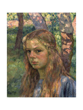 Portrait of a Girl, 20th Century Giclee Print by Théo van Rysselberghe