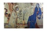The Annunciation and Two Saints, (Detail), 1333 Giclée-Druck von Simone Martini