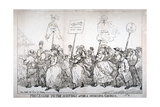 Procession to the Hustings after a Successful Canvass, No:14, 1784 Giclee Print by Thomas Rowlandson