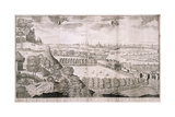 View from Greenwich Park, London, 1723 Giclee Print by Sutton Nicholls