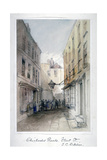 View in Chichester Rents, Fleet Street, City of London, C1850 Giclee Print by Thomas Colman Dibdin