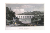 Chirk Aqueduct on the Ellesmere Canal, C1829 Giclee Print by Thomas Barber