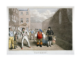 Playing Rackets, Fleet Prison, London, C1825 Giclee Print by Theodore Lane