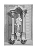 Statue of Edward Vi, Guildhall Chapel, City of London, 1822 Giclee Print by T Mills