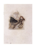 Cupid and Lover Lamenting the Death of a Loved One, C1802-C1857 Giclee Print by Thomas Uwins