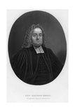 Matthew Henry (1662-171), English Biblical Commentator and Clergyman, 19th Century Giclee Print by Samuel Freeman