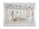 View of Lindsey House, Lincoln's Inn Fields, Holborn, London, 1854 Giclee Print by Thomas Colman Dibdin