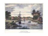Stourport-On-Severn, Worcestershire, from Above the Bridge, C1795 Giclee Print by Samuel Ireland