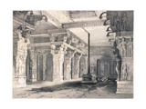 Temple of Sri Rama, Combaconum Giclee Print by Thomas Colman Dibdin