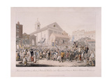 Election in Covent Garden, London, 1818 Giclee Print by Rudolph Ackermann
