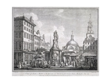 Stocks Market in Poultry, London, C1728 Giclee Print by Sutton Nicholls