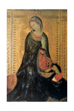 Madonna of the Annunciation, C1304-1344 Giclée-tryk af Simone Martini
