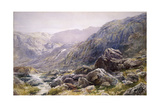 Llanberis Pass, 1875 Giclee Print by Thomas Collier