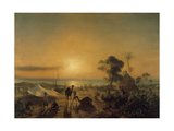 The Camp at Staoueli, 1830 Giclee Print by Theodore Gudin