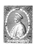 Girolamo Frascatoro, Italian Physician, Poet and Astronomer, Late 16th Century Giclee Print by Theodor de Bry
