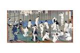 Bath House Scene, a Print by Toyohara Kunichika, 19th Century Giclee Print by Toyohara Kunichika