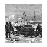 Preparing to Start on a Sledge Trip in the Arctic, 1875 Giclee Print by W Palmer