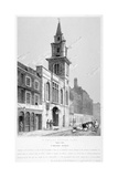 Church of St Vedast Foster Lane, City of London, 1814 Giclee Print by Samuel Rawle