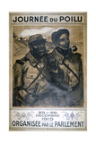 Journée Du Poilu 25 Et 26 Décembre 1915, French World War I Poster, 1915 Giclee Print by Theophile Alexandre Steinlen