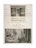 Shop Front of Brown and Crow, Sacking Manufacturers, 32 Mark Lane, City of London, 1800 Giclee Print by Samuel Rawle