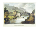 Iron Bridge across the Severn at Ironbridge, Coalbrookdale, England, Built 1779 Giclee Print by Samuel Ireland