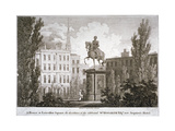 Leicester Square, Westminster, London, C1805 Giclee Print by Samuel Rawle