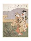 Young Lady and Maid, C1745-1770 Giclee Print by Suzuki Harunobu