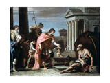 Alexander and Diogenes, Late 17th-Early 18th Century Giclée-tryk af Sebastiano Ricci