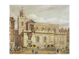 Church of St Dunstan in the West, Fleet Street, City of London, 1827 Giclee Print by Thomas Talbot Bury