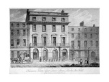 Freemasons' Tavern, Great Queen Street, Holborn, London, 1811 Giclee Print by Samuel Rawle