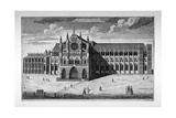 View of the West End of Westminster Abbey before the Addition of Towers, London, C1738 Giclee Print by Thomas Bowles