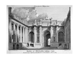 View of Lothbury Court, the Bank of England. City of London, 1803 Giclee Print by Samuel Rawle