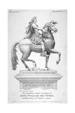 The Equestrian Statue of King William III in St James's Square, London, 1808 Giclee Print by Samuel Rawle