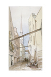 Huggin Lane, City of London, 1851 Giclee Print by Thomas Colman Dibdin